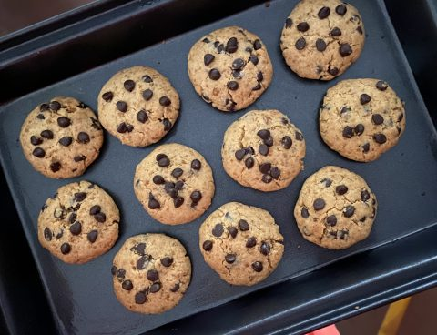 Healthy choco chip cookies
